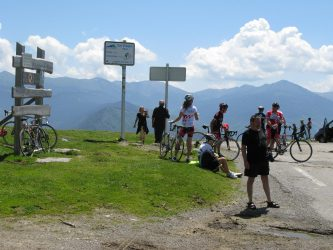 at the top of col d'aspin